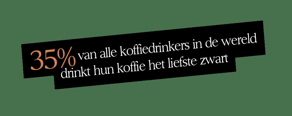 35 procent drinkt zwarte koffie | Undici Ore | Segafredo Magazine